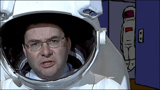 Quentin Letts in spacesuit