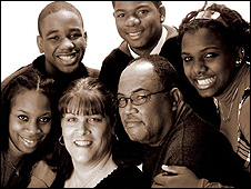 Barbara Harris and her family