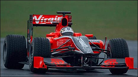 Timo Glock in the Virgin F1 car at Silverstone