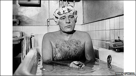 Terry O'Neill image of Richard Burton taken on the set of Staircase in 1969.