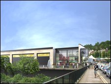 Image of how the new centre in Pontypridd would look