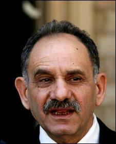 Saleh al-Mutlaq, a Sunni politician, in this Sept. 5, 2006 file photo