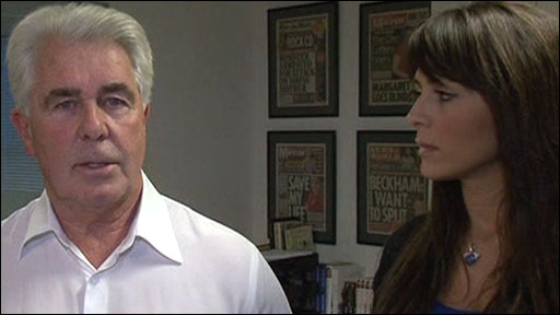 Max Clifford and Vanessa Perroncel