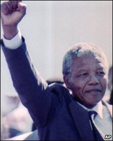 Nelson Mandela on his release from jail