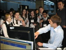 School Reporters from Castlehead High School, Paisley, Renfrewshire