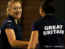 Elena Baltacha and Sarah Borwell