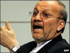 Iran's Foreign Minister Manouchehr Mottaki