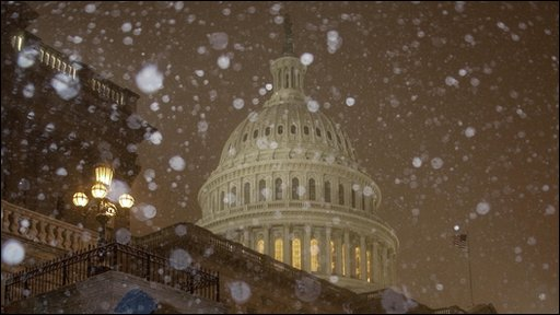 The snow in Washington