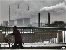 A coal-fired power station in China's Jilin province, 12 Jan