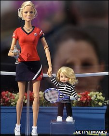 Kim Clijsters as Barbie