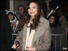Keira Knightley outside the Comedy Theatre