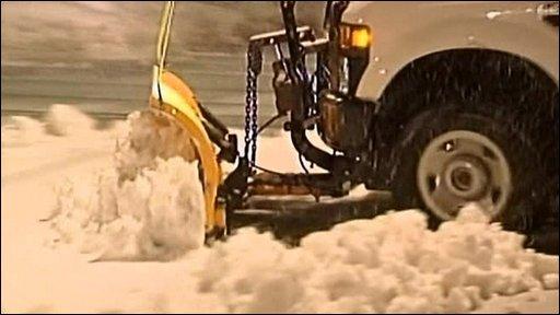 The snow in Washington