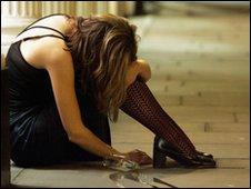 Drunk woman - generic