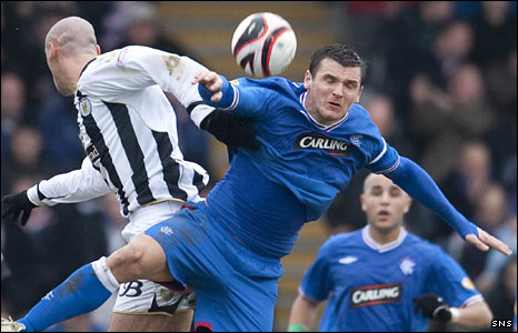 St Mirren striker Billy Mehmet and Rangers midfielder Lee McCulloch