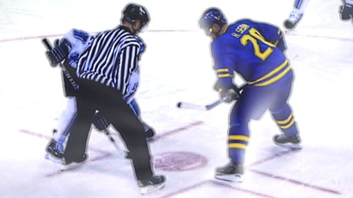 Referee and ice hockey player
