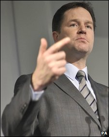 Nick Clegg at the Welsh Liberal Democrat conference