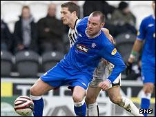 Rangers striker Kris Boyd and St Mirren midfielder Hugh Murray