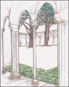 Artist's impression of cloister garden - Pic:Upcher and Co
