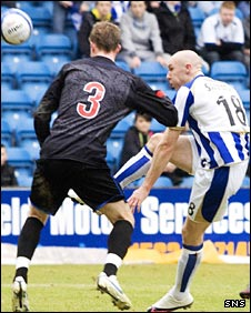 Connor Sammon chips in the opening goal