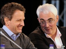 Tim Geithner and Alistair Darling
