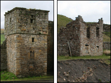 Ninebanks Tower and Whitesyke and Bentyfield lead mines