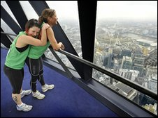 Runners reach the top of the Gherkin