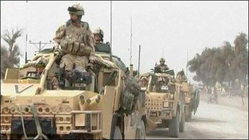 Army convoy