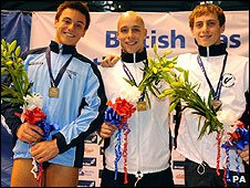 Tom Daley, Peter Waterfield and Max Brick