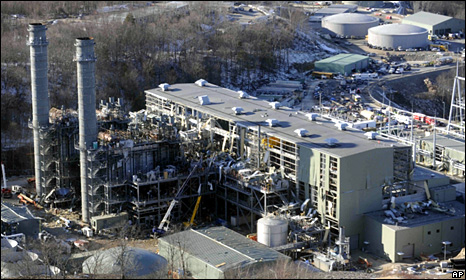 Aerial view of Kleen Energy plant in Middletown (7 February 2010)