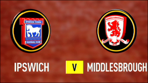 Ipswich 1-1 Middlesbrough