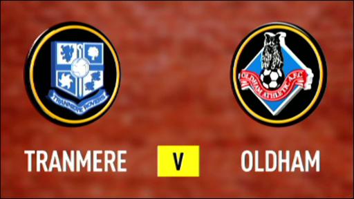 Tranmere 0-1 Oldham