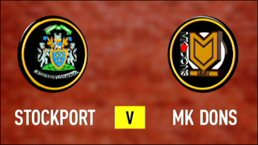 Stockport 1-3 MK Dons