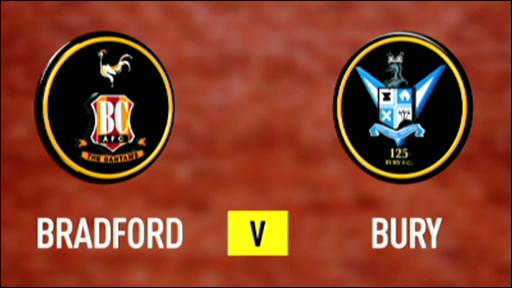 Bradford 0-1 Bury