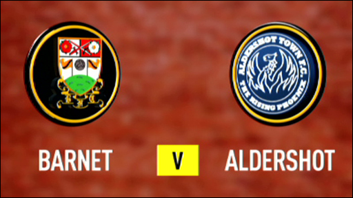 Barnet 3-0 Aldershot