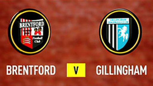 Brentford 4-0 Gillingham (UK users only)