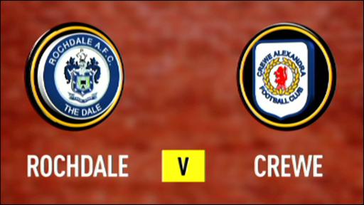 Rochdale 2-0 Crewe