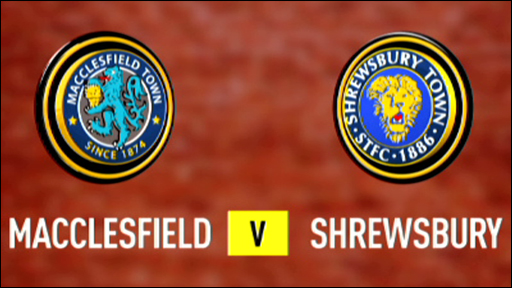 Macclesfield 0-1 Shrewsbury
