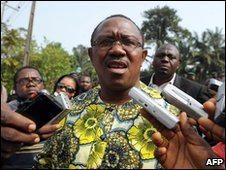 Peter Obi in Agulu district, Anambra, 6 February