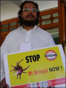 Anti-BT protester