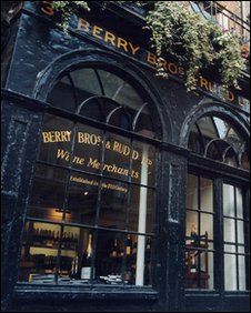 Shop front of Berry Bros and Rudd (Berry Bross and Rudd)
