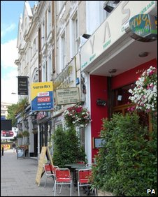 The Persian Yas restaurant in Kensington, west London