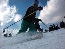 Skier at Gulmarg