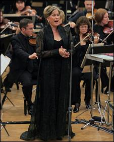 Dame Kiri Te Kanawa performs with the BBC Symphony Orchestra