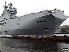 The French helicopter transport ship Mistral, file pic from November 2009