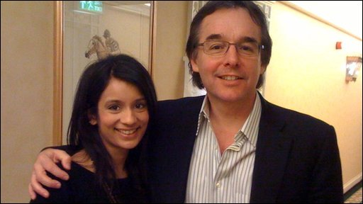 Sonali and Chris Columbus