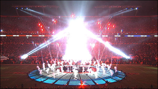 The Who perform live at the Super Bowl
