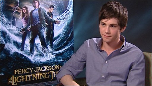 Logan Lerman who plays Percy Jackson in the film