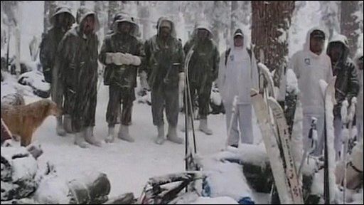 Soldiers in snow