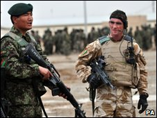British and Afghan forces prepare for battle in Helmand