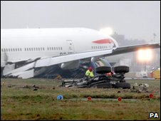 The Boeing 777 which crashed at Heathrow (file pic: 2008)